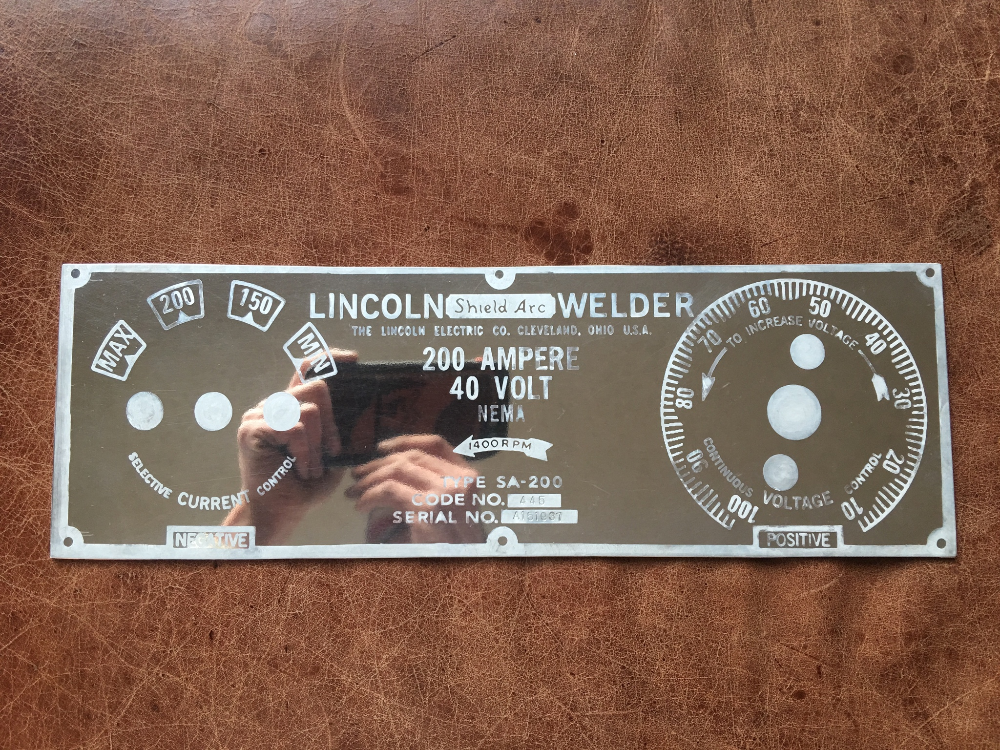 Making A Custom Faceplate For 15 Lincoln Sa 200 Face Plates Re