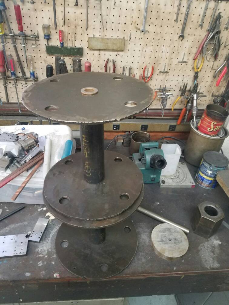 My welding lead reels.
