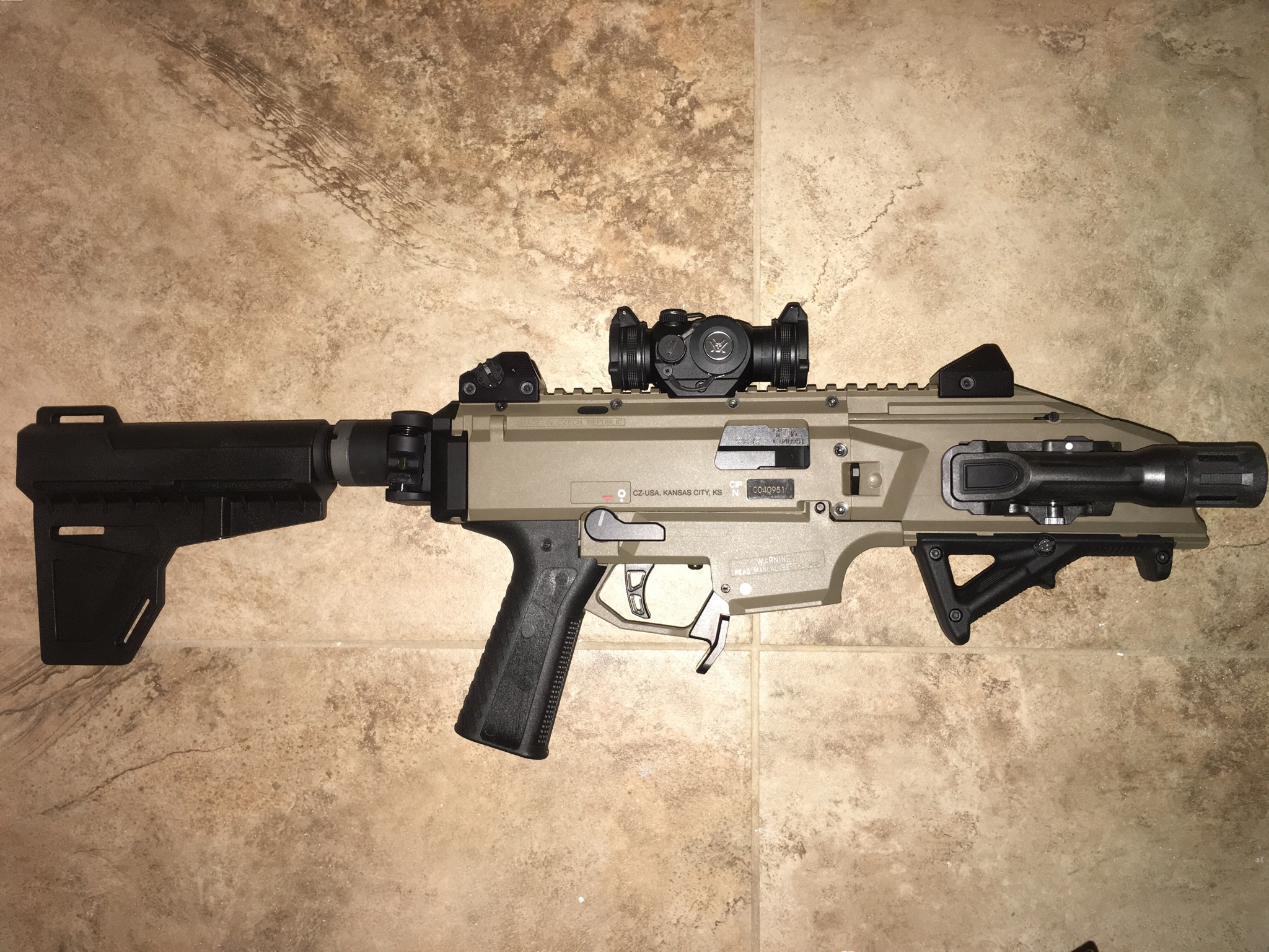 Right side Safety + folding stock issues?