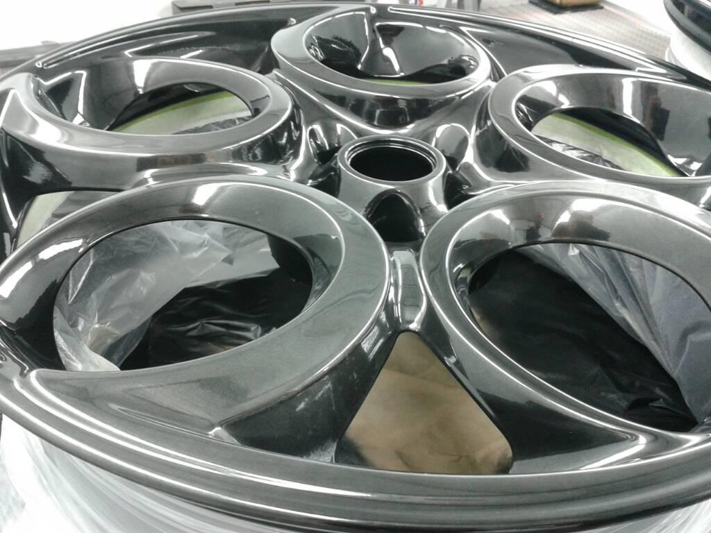 Refinishing Wheels Alfa Romeo 4c Forums Magnesium I Painted Mine In Black Chrome Last Summer Not Powder Coat Cost About 100 Unit