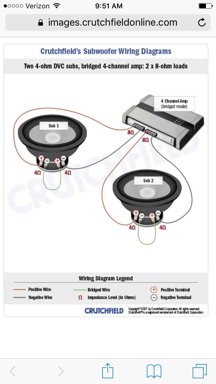 Vwvortexcom Help With Wiring Subs Bridged An Amp Thanks