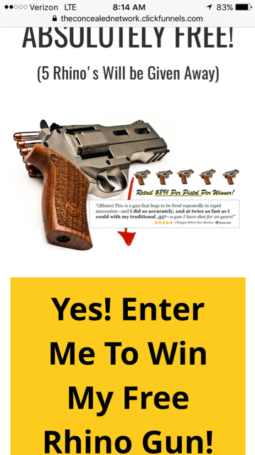 The Concealed Network pistol giveaways, know or seen any winners