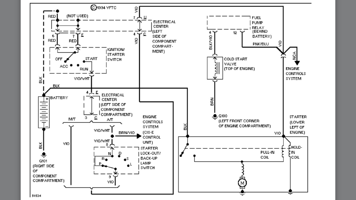 1987 230e W124 Engine Wiring Harness Diagram
