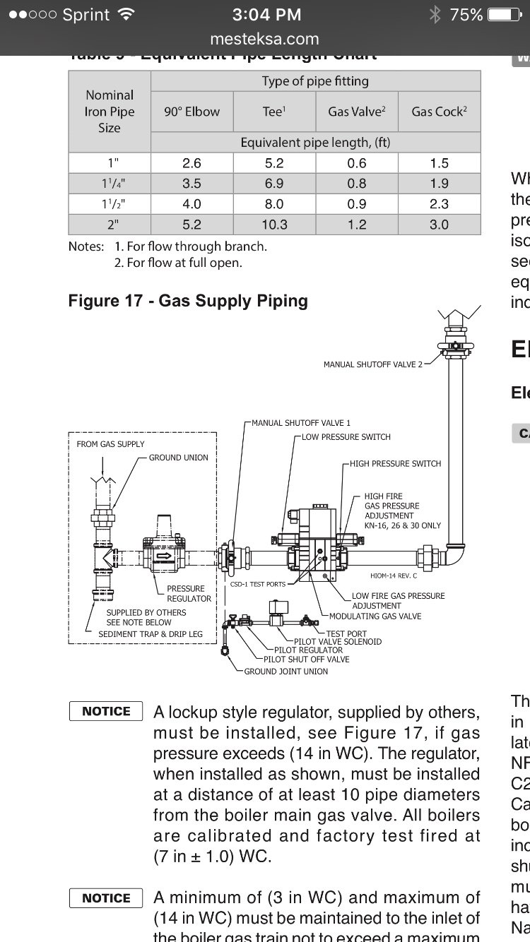 Question About Gas Regulator Placement On Kn 16 Boiler Page 2 Piping Layout Rules The Way I Read Spec Is That If Supply Pressure Exceeds 14 Then A Reg 10 Pipe Diameters Away Needs To Be Installed Dumb Whats