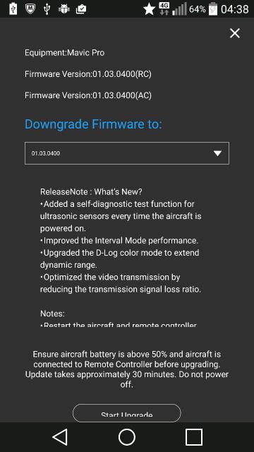 400 Downgrade | DJI Mavic Drone Forum