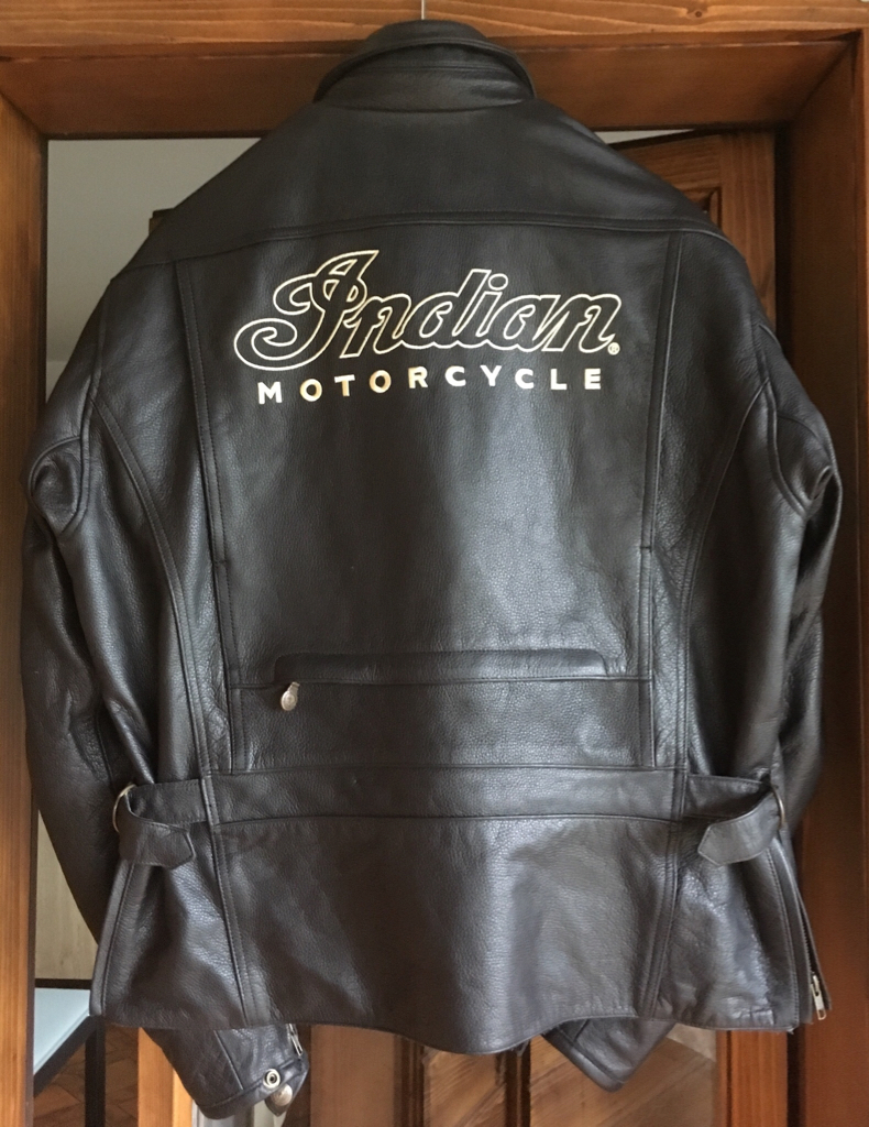 for sale:mens throttle jacket - black leather by indian motorcycle
