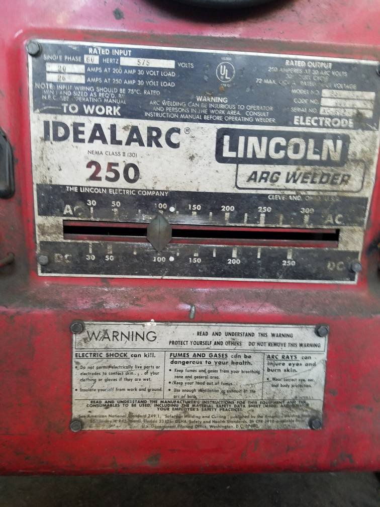 running a lincoln idealarc 250 on a transformer Lincoln 250 Mig Welder s uploads tapatalk cdn com 201 c76c3b79be jpg