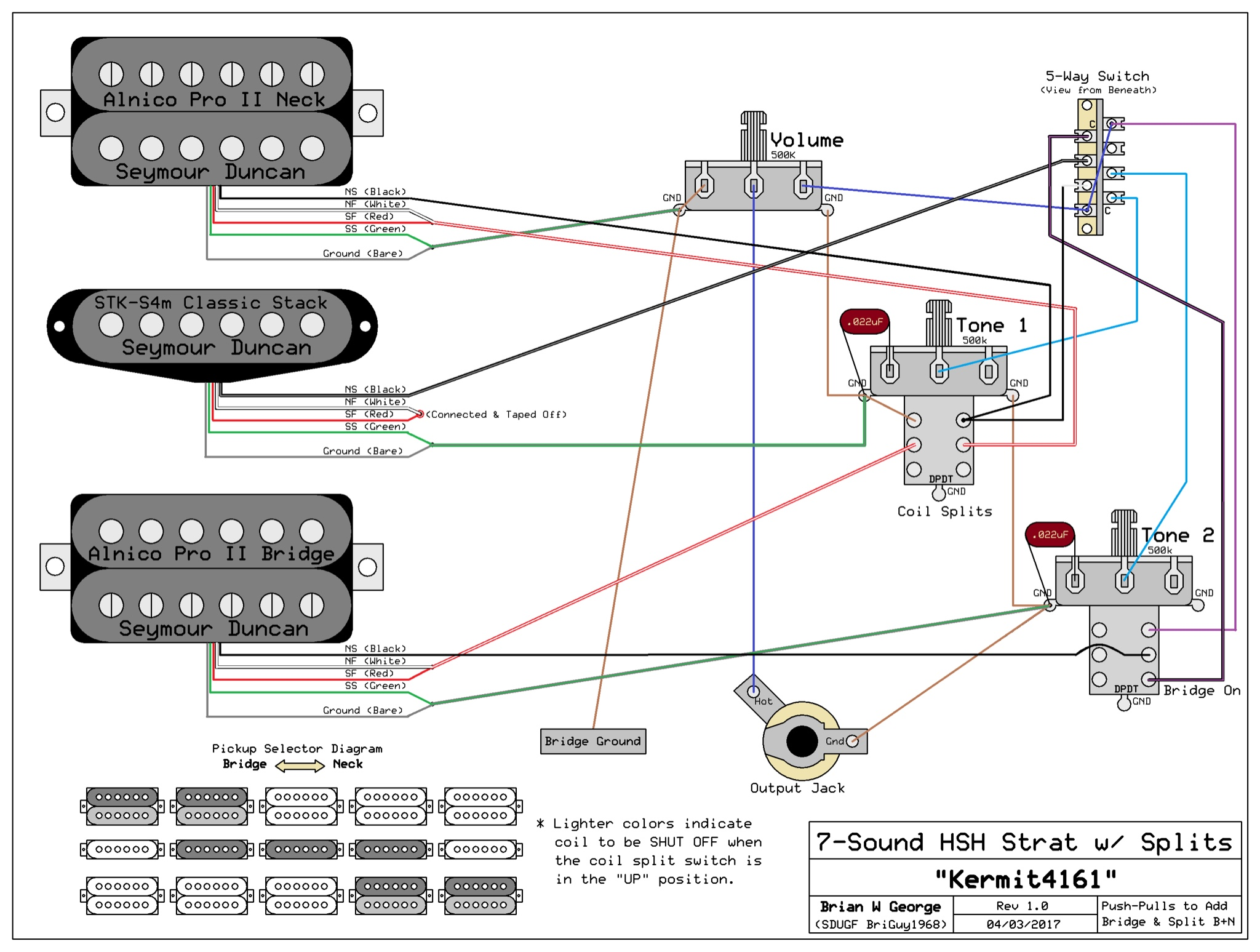 Hsh Wiring Diagram 2 Volume 1 Tone