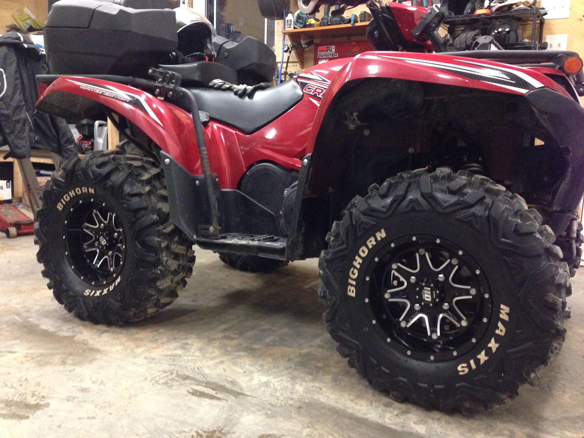 Bighorns on 2016 grizzly - Yamaha Grizzly ATV Forum