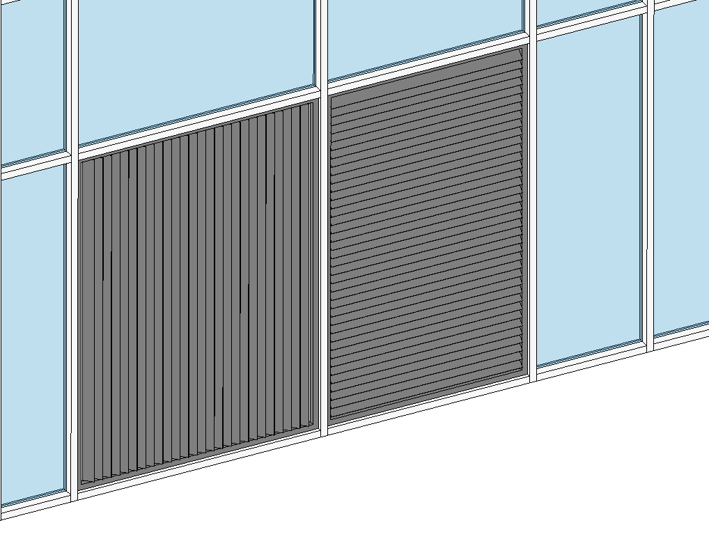 Horizontal - Vertical Louvers Curtain System