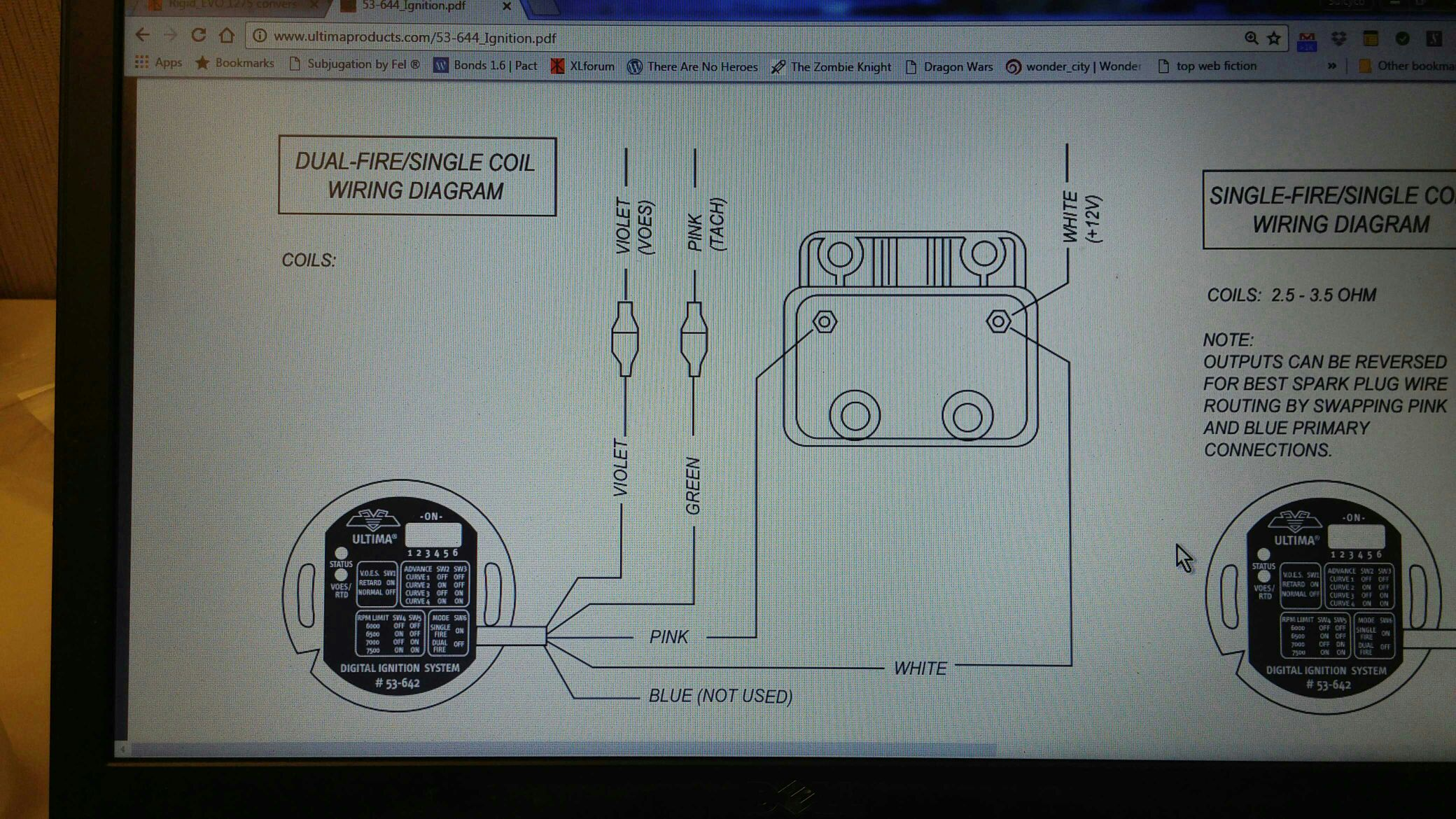 Power Fire Distributor 3 Wire Wiring Diagram Manual Of Dyna Single Ultima 33