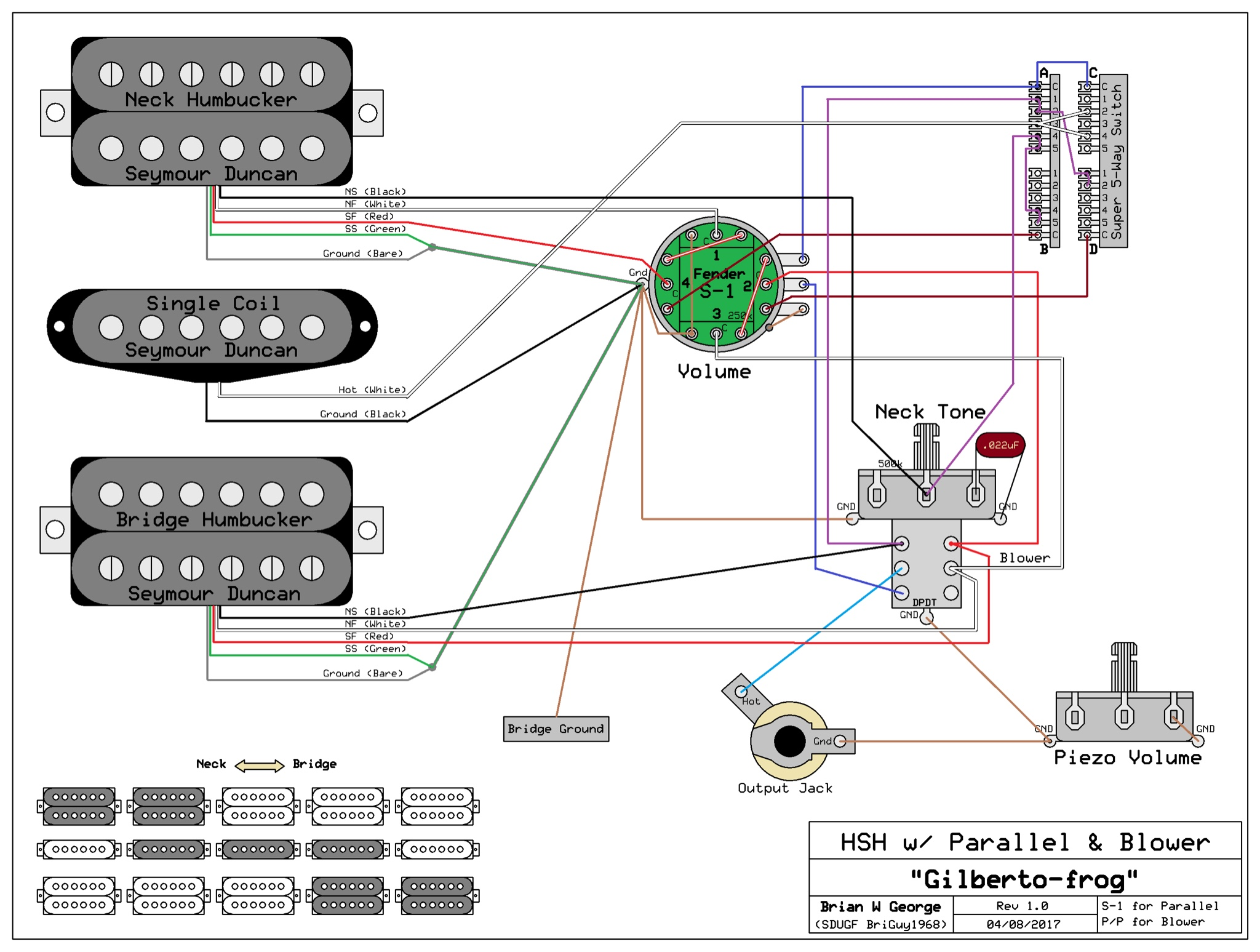 hsh s 1 and super switch parallel switching rh seymourduncan com hsh super switch wiring diagram EMG HSH Wiring-Diagram