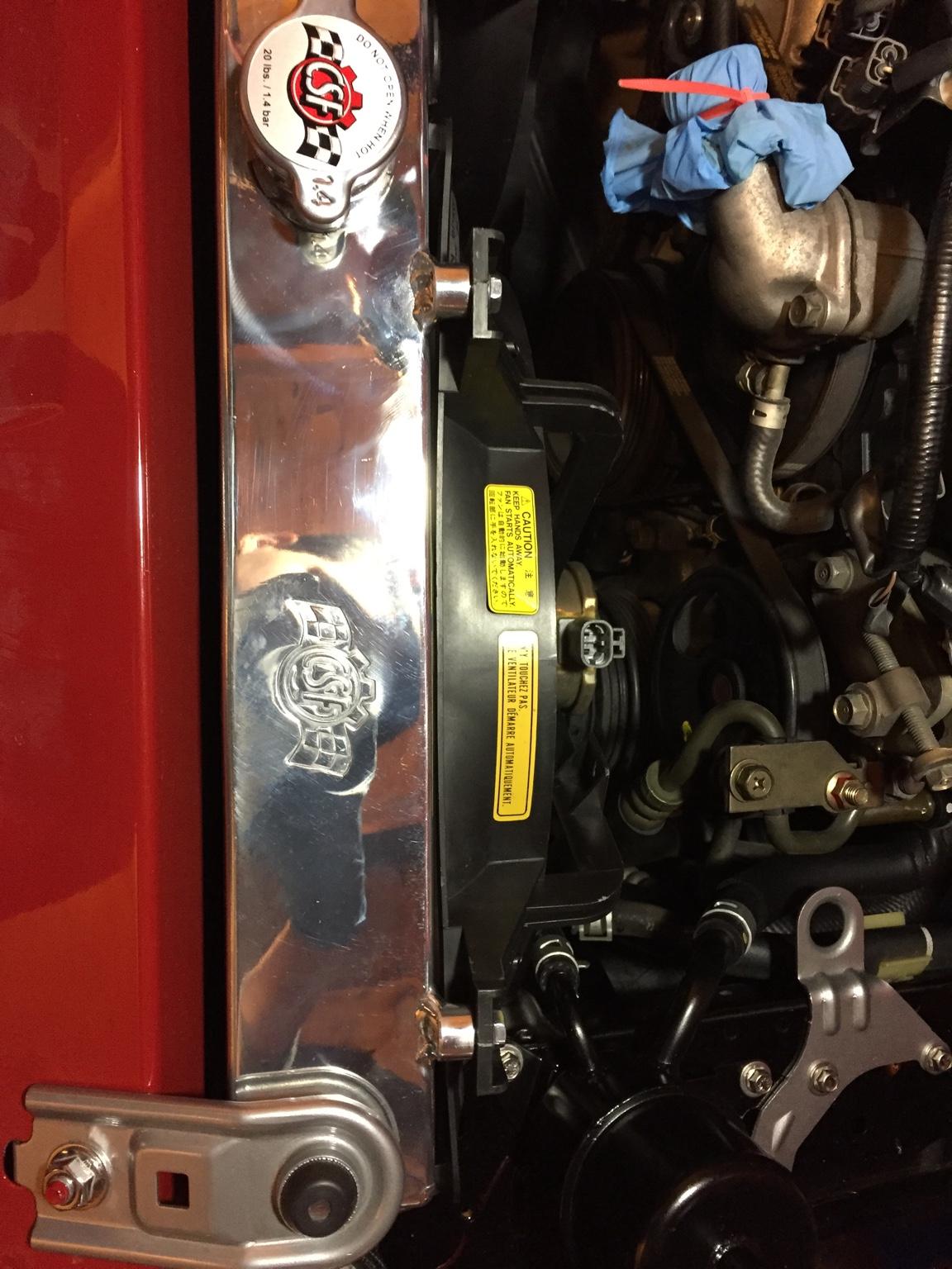 CSF Radiator + Stock fans clearance - MX-5 Miata Forum