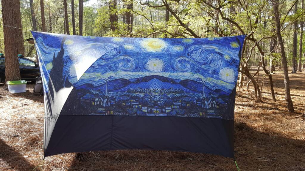 First Tarp Build Went All In Starry Night Outdoorink