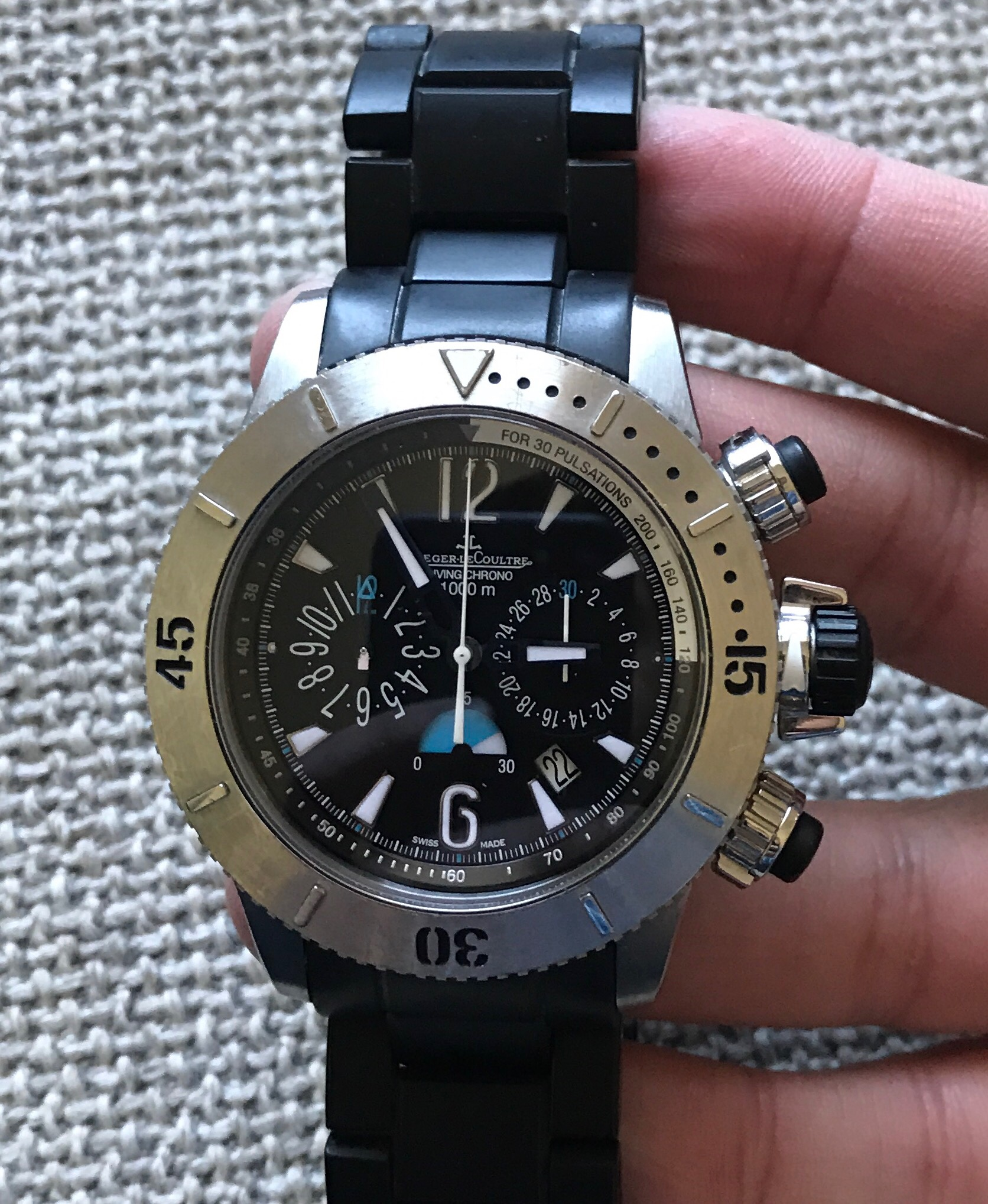 1a0511bfec2 FSOT - Jaeger Lecoultre Master Compressor Diving Chronograph - articulated  rubber bracelet
