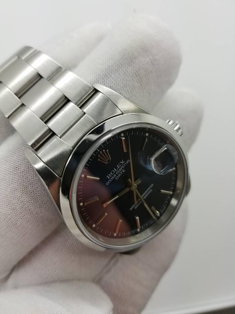 Rolex date 15200 blue dial