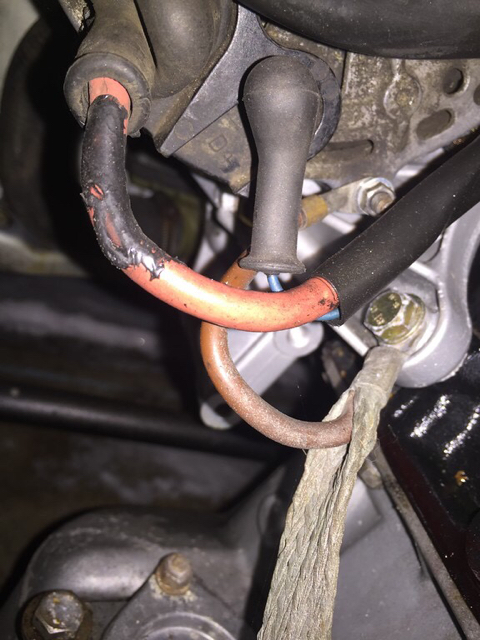 Alternator wiring after trunk battery - Not charging on