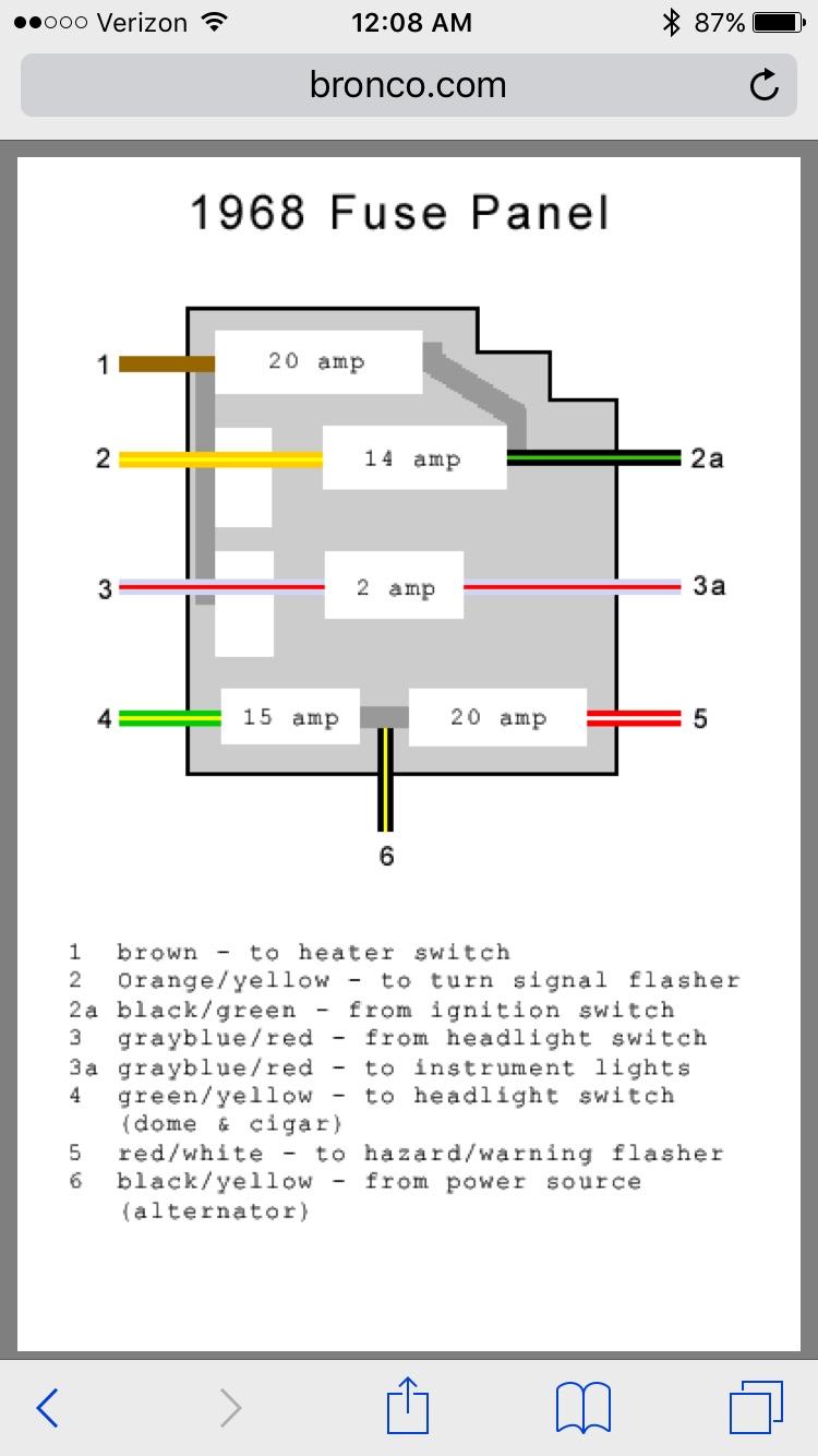 Need Help Wiring New Fuse Panel - ClassicBroncos.com ForumsClassicBroncos.com