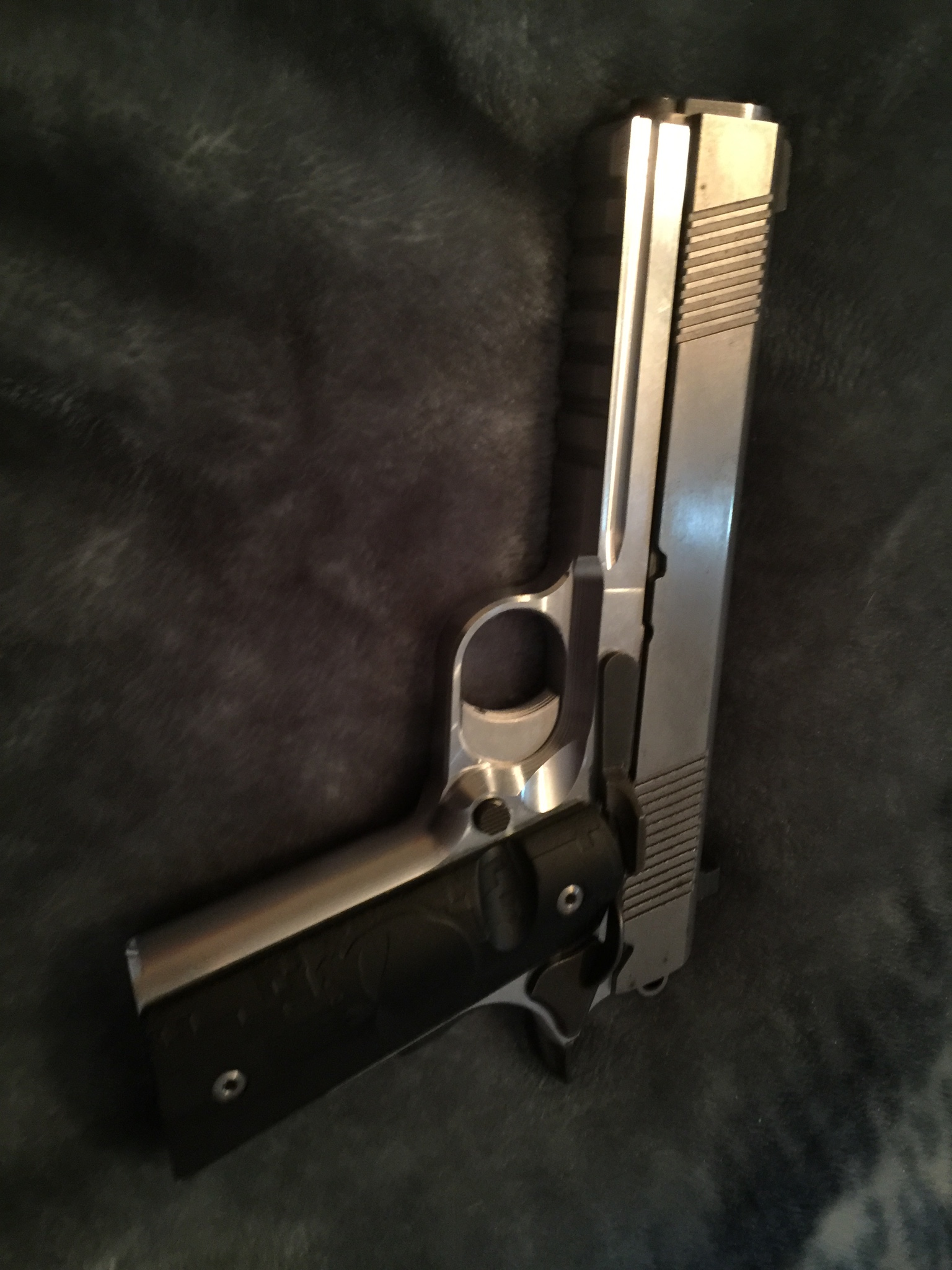 80% 1911 Stainless steel, full size, railed frame, who has