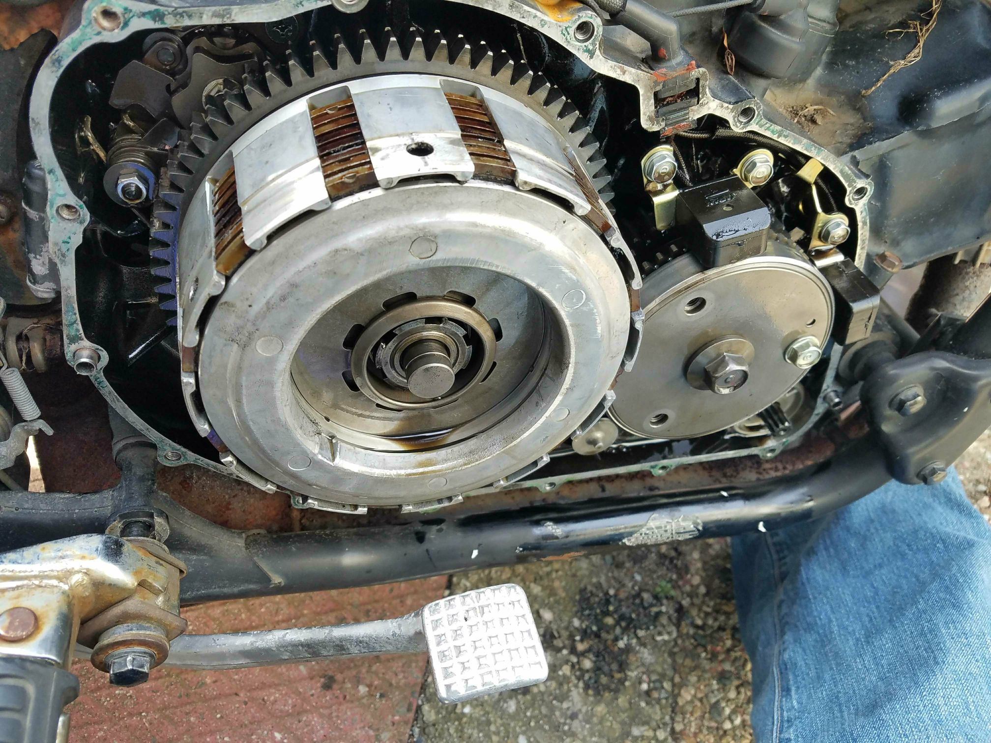 V65 sabre clutch replacement - V4MuscleBike com