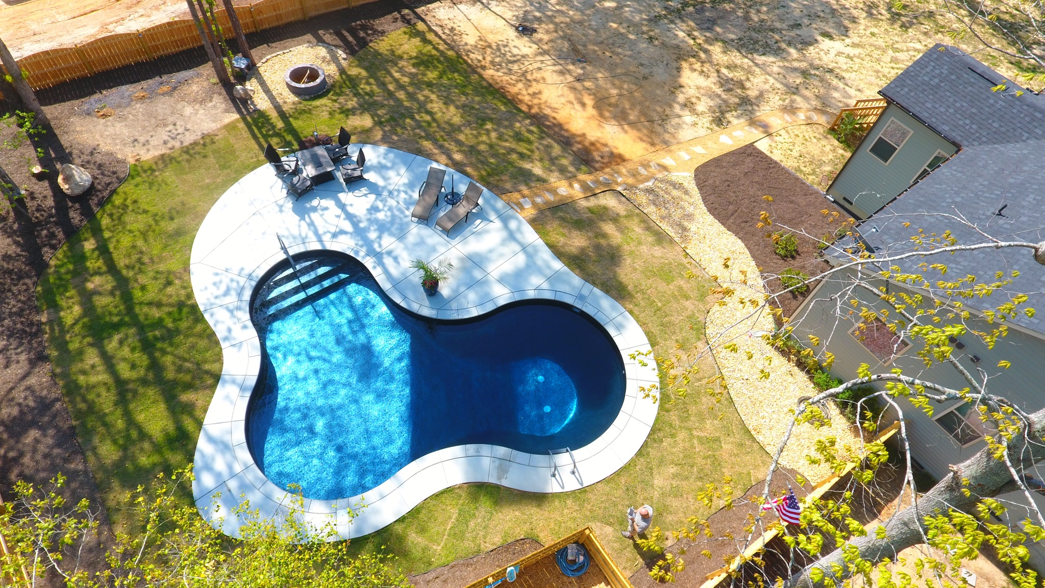 New build vinyl lagoon in north carolina page 3 for Tallahassee pool builders