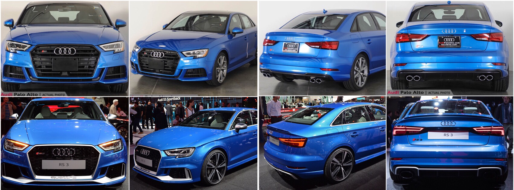 Facelift 2018 Ara Blue Rs3 Saloon Alu Optics Or Black