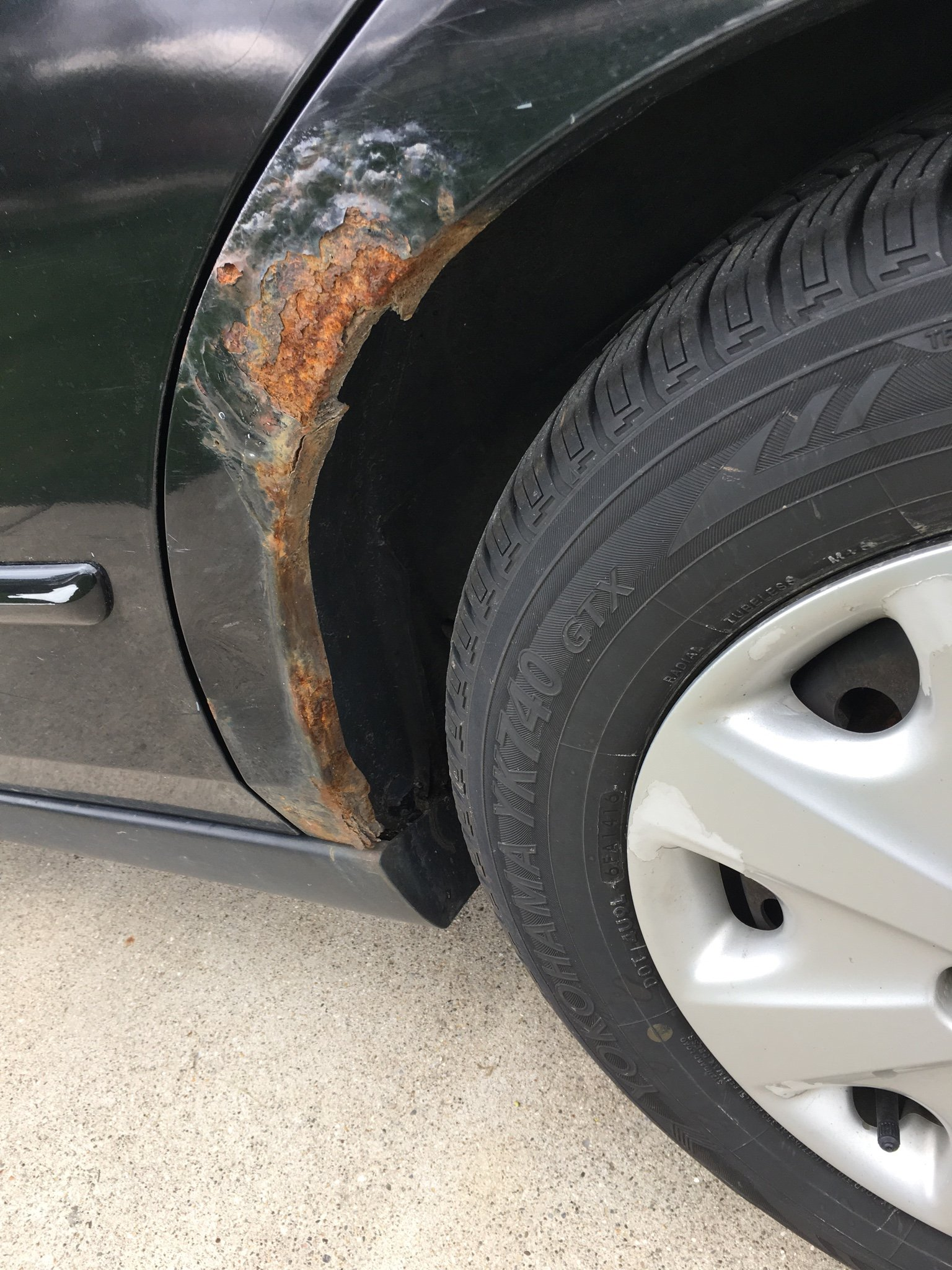 I Have Some Pretty Bad Rust On My Quarter Panel Was Wondering If Should Try And Get Fixed Or Just Replace It