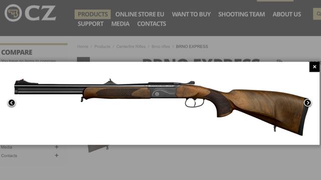 Bren Express double rifle    sweet!