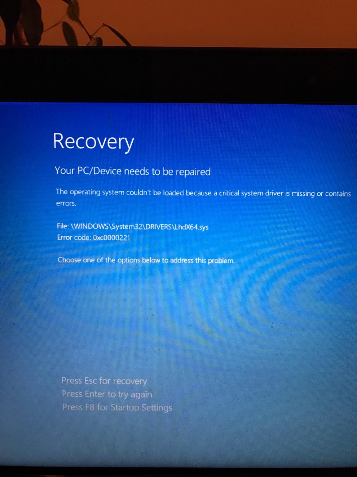 Repair loop - Windows 10 Forums