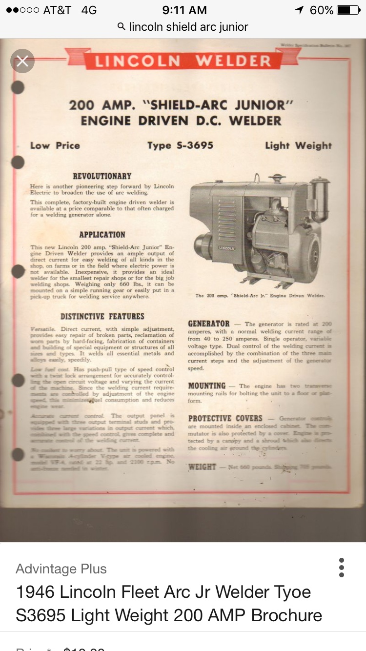 Weldingweb Welding Forum For Pros And Enthusiasts 1946 Lincoln Wiring Mike Some Old Info I Found You