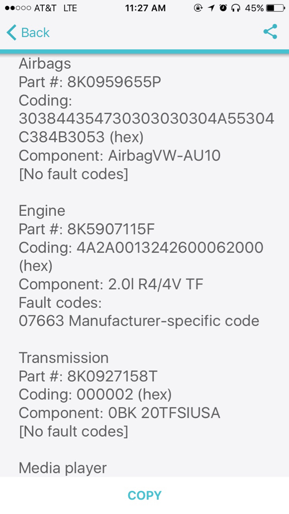 Fault Code List, Trouble Shooting and Fixes [Archive] - Audizine Forums
