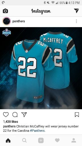 brand new 2a41f 89189 Christian McCaffrey will wear number 22. - Carolina Panthers ...