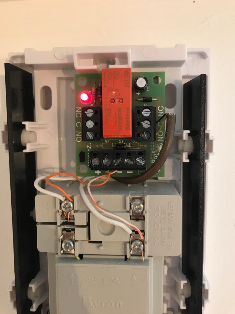 Indigo Domotics View Topic Z Wave Enabled Ring Bell Wiring A Doorbell Circuit Along With Wireless Button Can See Relay Thats Powered By The Itself When Is Pressed Outside It Causes To Lose Power And Close