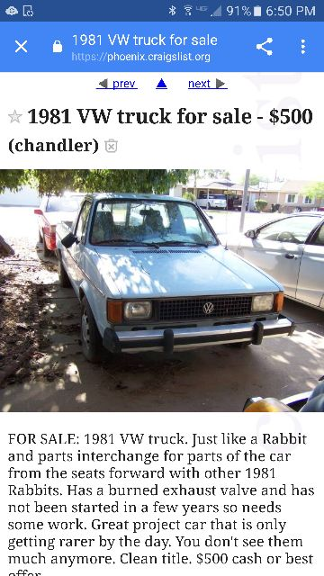 Vwvortex Com Craigslist And Ebay Finds Post Your Spotted Ads In