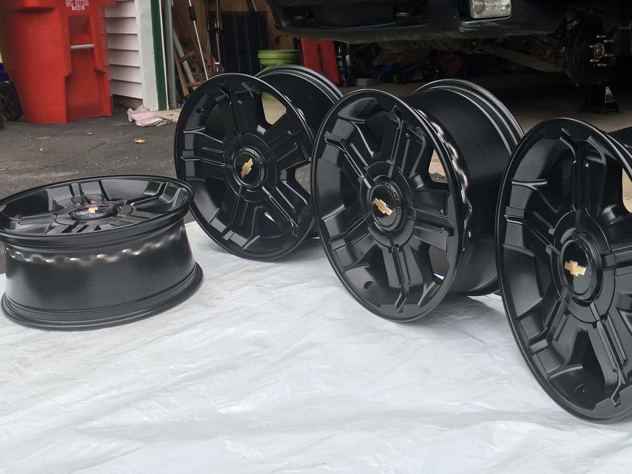 Gmc Sierra Truck >> SilveradoSierra.com • 2011 Silverado stock black wheels ...