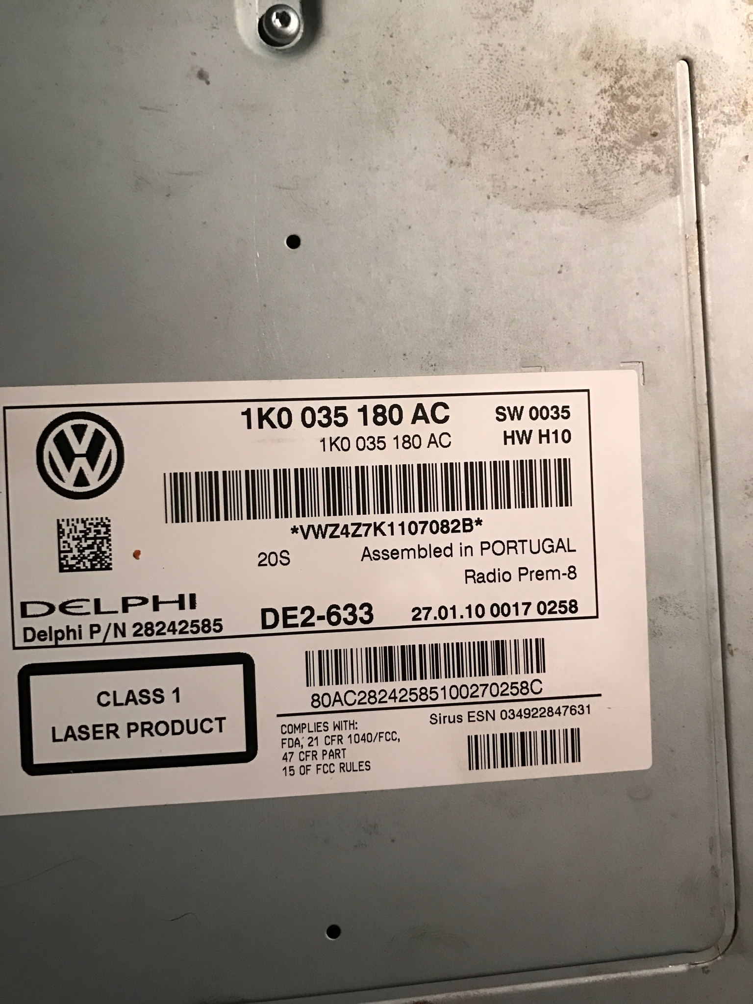Swapped a rcd310 to a rcd510, facing 1 issue     - VWVortex com