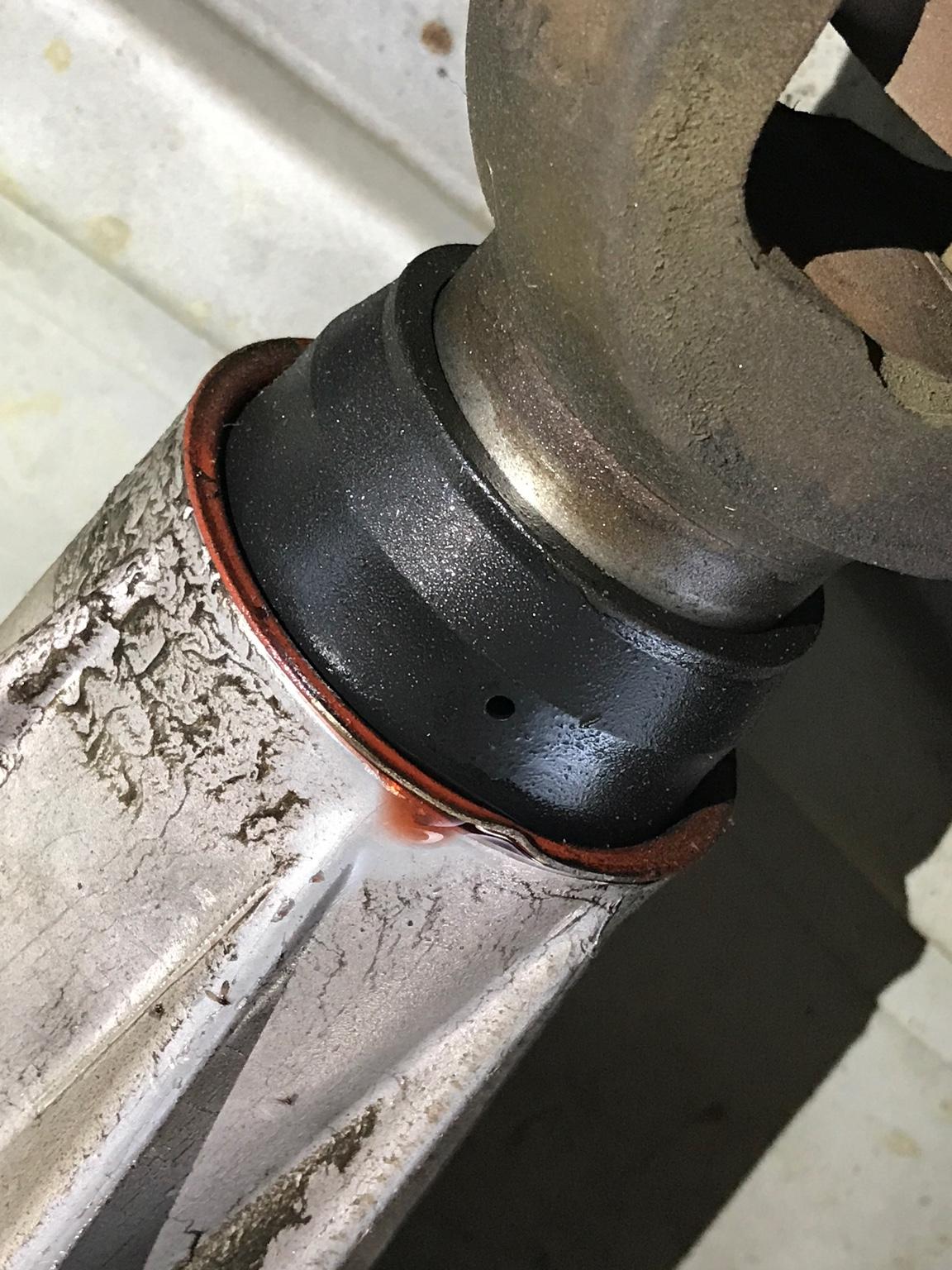 ATF leak on transfer case rear output - Dodge Cummins Diesel