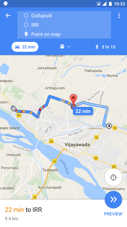How to skip Vijayawada traffic bypass road Route queries India