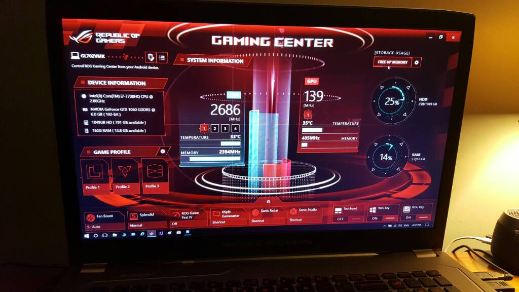 GL702VM & similar] Solution to Performance issues