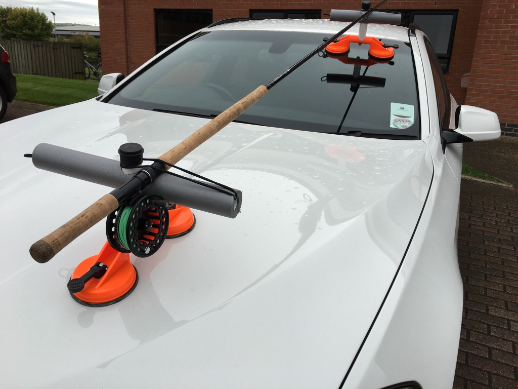 Diy car rod holders for Fishing pole holder for car