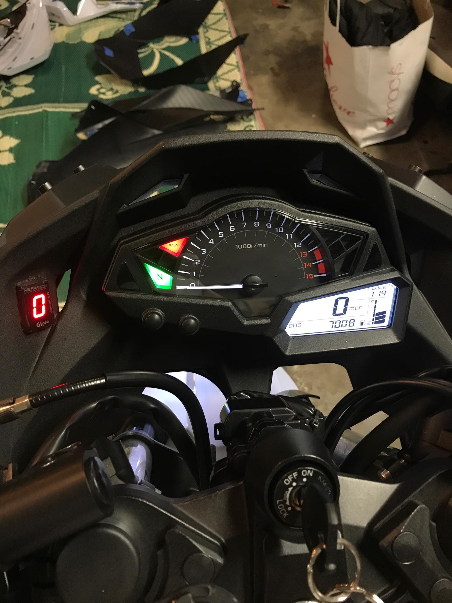 Gipro-DS gear indicator - Kawasaki Ninja 300 Forum