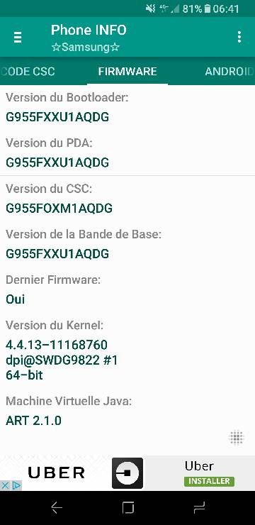 Firmware Officiel G955FXXU1AQDG XEF - Android 7 0 Nougat - Galaxy