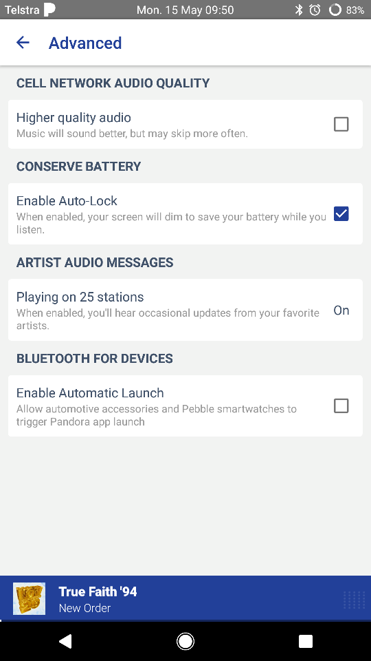 Any way to turn off Pandora auto start? - Android Forums at