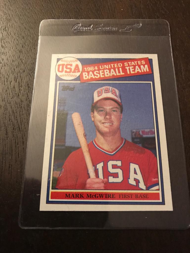 1985 Topps Mcgwire Usa Olympic Pack Pull Net54baseball