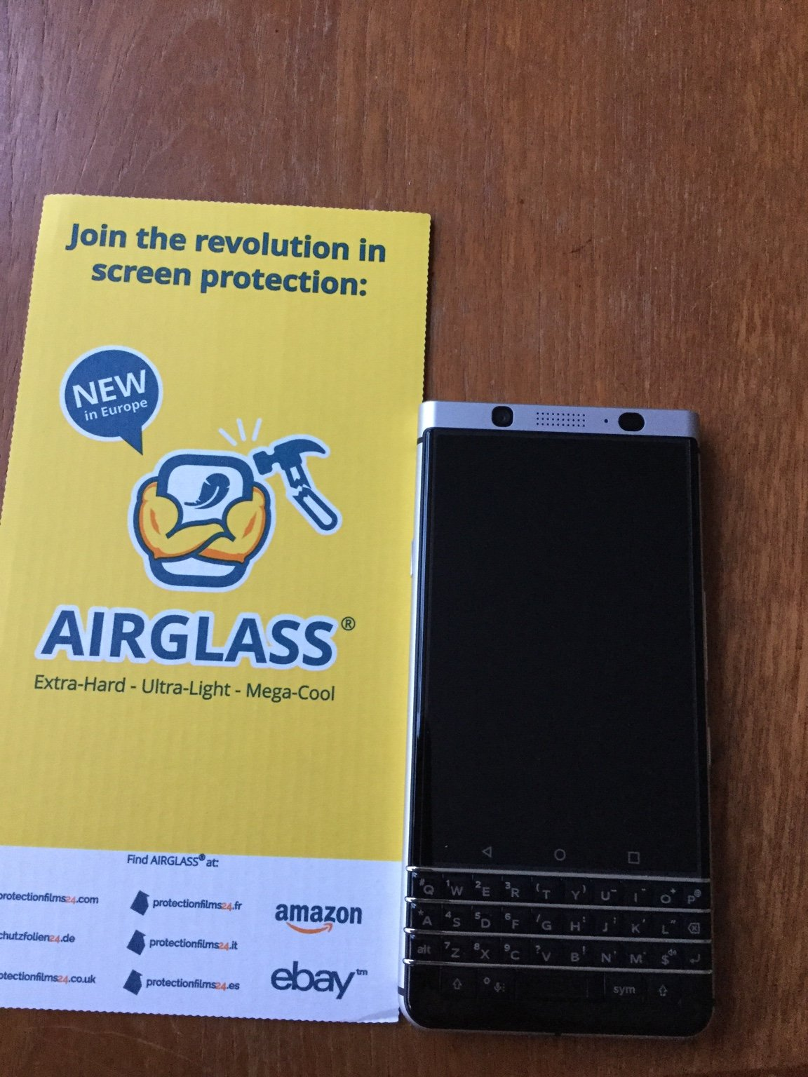 Tempered Glass Screen Protector And Case Fitted On Keyone Blackberry Full Cover Ampamp Curved Black