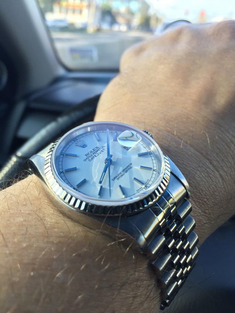 Rolex Datejust 36mm too small for man's wrist? - Page 6 ...Rolex Datejust 36mm On Wrist
