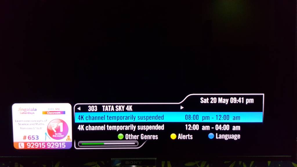 Tatasky Dth General Discussions Help Issues Channel
