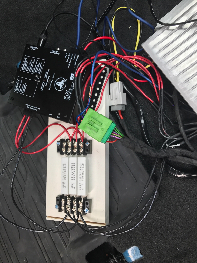Help With Amp And Resistors Car Audio Jl Wiring Now The Question Is This A Do I Just Get Some 8ohm 100w Mount Them To An Aluminum Heat Sink Beside Call It Day