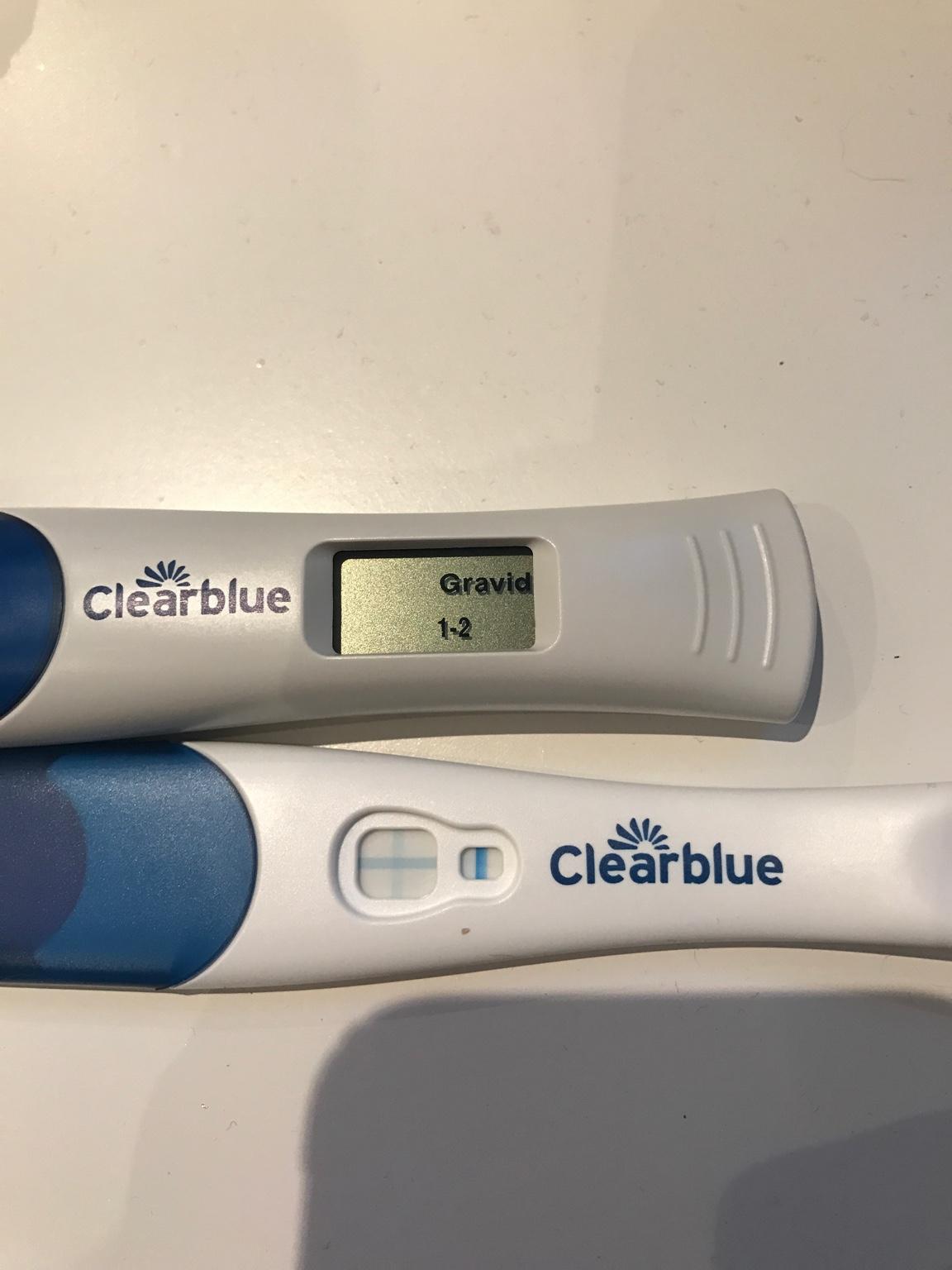Positivt graviditetstest clearblue