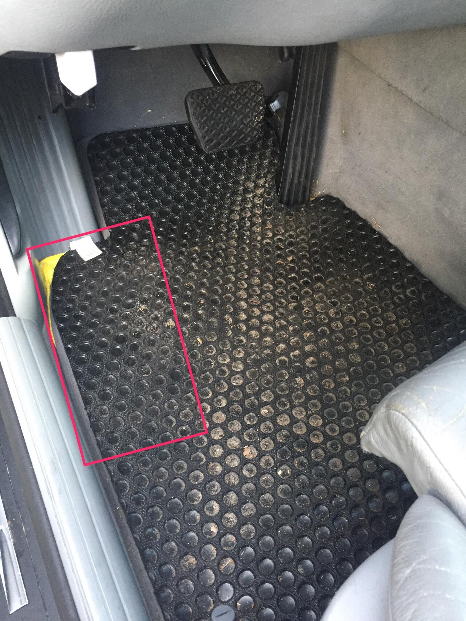 Front Driver Floorboard Wet